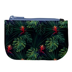 Monstera Flowers Large Coin Purse by goljakoff