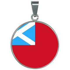 Scottish Red Ensign, Middle Ages 1707 30mm Round Necklace