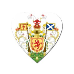 Royal Coat Of Arms Of Kingdom Of Scotland, 1603 1707 Heart Magnet by abbeyz71