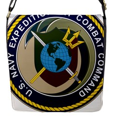 Seal Of United States Navy Expeditionary Combat Command Flap Closure Messenger Bag (s)