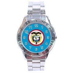 Naval Jack Of Colombia Stainless Steel Analogue Watch by abbeyz71