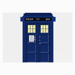 Tardis Doctor Who Time Travel Large Glasses Cloth (2 Side)