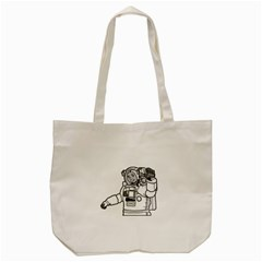 Astronaut Space Exploration Helmet Tote Bag (cream) by Wegoenart