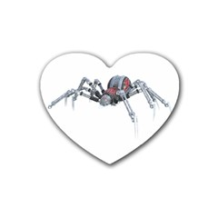 Spider Arachnid Animal Robot Rubber Coaster (heart)