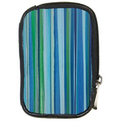 Painted Stripe Compact Camera Leather Case by dressshop