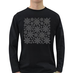 Black & White Long Sleeve Dark T Shirt by zappwaits