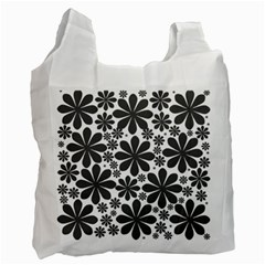 Black & White Recycle Bag (one Side)