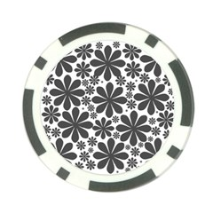 Black & White Poker Chip Card Guard (10 Pack)
