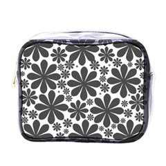 Black & White Mini Toiletries Bag (one Side)