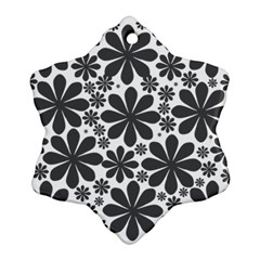 Black & White Snowflake Ornament (two Sides)