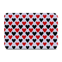 Red & White Hearts  Lilac Blue Plate Mats
