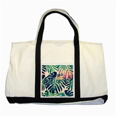 Colorful Tropical Leaves Two Tone Tote Bag by goljakoff