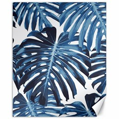 Blue Monstera Leaves Canvas 16  X 20  by goljakoff