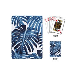 Blue Monstera Leaves Playing Cards (mini) by goljakoff