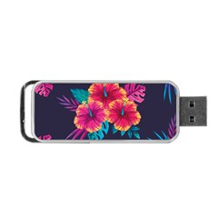 Neon Flowers Portable Usb Flash (one Side) by goljakoff