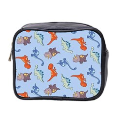 Dinosaurs   Baby Blue Mini Toiletries Bag (two Sides) by WensdaiAddamns