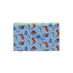 Dinosaurs   Baby Blue Cosmetic Bag (xs) by WensdaiAddamns