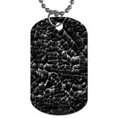 Black And White Grunge Cracked Abstract Print Dog Tag (one Side) by dflcprintsclothing