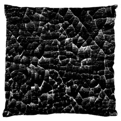 Black And White Grunge Cracked Abstract Print Large Cushion Case (two Sides) by dflcprintsclothing