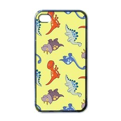 Dinosaurs   Yellow Finch Apple Iphone 4 Case (black) by WensdaiAddamns