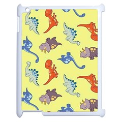 Dinosaurs   Yellow Finch Apple Ipad 2 Case (white) by WensdaiAddamns
