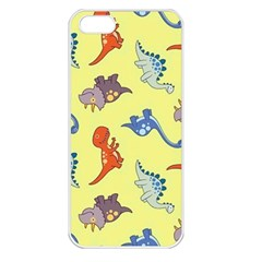 Dinosaurs   Yellow Finch Apple Iphone 5 Seamless Case (white) by WensdaiAddamns