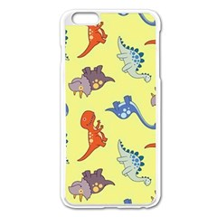 Dinosaurs   Yellow Finch Apple Iphone 6 Plus/6s Plus Enamel White Case by WensdaiAddamns
