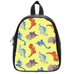 Dinosaurs   Yellow Finch School Bag (small) by WensdaiAddamns