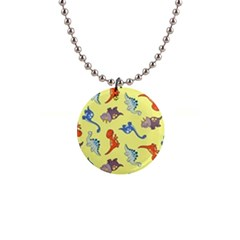 Dinosaurs   Yellow Finch 1  Button Necklace by WensdaiAddamns