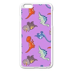 Dinosaurs   Violet Apple Iphone 6 Plus/6s Plus Enamel White Case by WensdaiAddamns