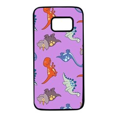 Dinosaurs   Violet Samsung Galaxy S7 Black Seamless Case by WensdaiAddamns