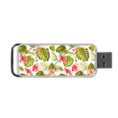 Tropical Leaves Portable Usb Flash (two Sides) by goljakoff