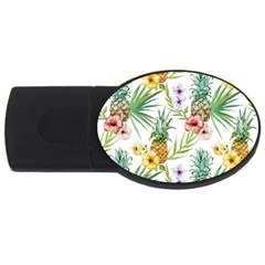 Tropical Pineapples Usb Flash Drive Oval (4 Gb) by goljakoff