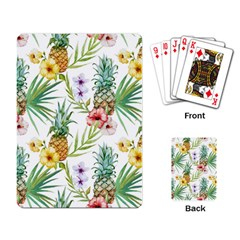 Tropical Pineapples Playing Cards Single Design by goljakoff