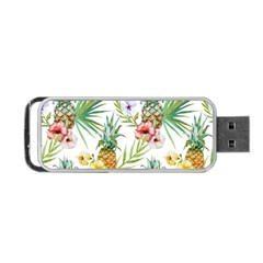 Tropical Pineapples Portable Usb Flash (one Side) by goljakoff