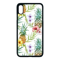 Tropical Pineapples Apple Iphone Xs Max Seamless Case (black) by goljakoff