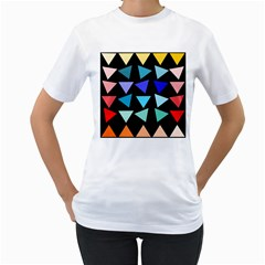 Zappwaits Triangles Women s T Shirt (white)  by zappwaits