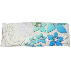 Flowers Background Leaf Leaves Blue Body Pillow Case Dakimakura (two Sides) by Mariart