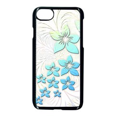 Flowers Background Leaf Leaves Blue Apple Iphone 8 Seamless Case (black)