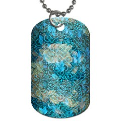 Background Scrapbooking Paper Dog Tag (one Side) by AnjaniArt