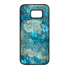 Background Scrapbooking Paper Samsung Galaxy S7 Edge Black Seamless Case by AnjaniArt