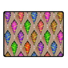 Abstract Background Colorful Leaves Fleece Blanket (small)