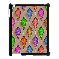 Abstract Background Colorful Leaves Apple Ipad 3/4 Case (black) by Alisyart