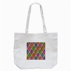 Abstract Background Colorful Leaves Tote Bag (white)
