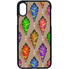 Abstract Background Colorful Leaves Apple Iphone X Seamless Case (black)