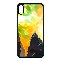 Forest Trees Nature Wood Green Apple Iphone Xs Max Seamless Case (black)