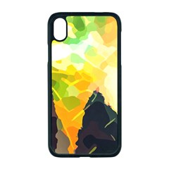 Forest Trees Nature Wood Green Apple Iphone Xr Seamless Case (black)