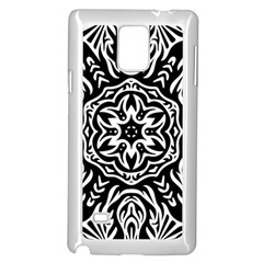 Pattern Star Design Texture Samsung Galaxy Note 4 Case (white)
