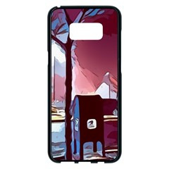 Post Office Mail Mailbox Night Samsung Galaxy S8 Plus Black Seamless Case