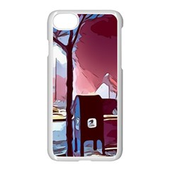 Post Office Mail Mailbox Night Apple Iphone 8 Seamless Case (white)